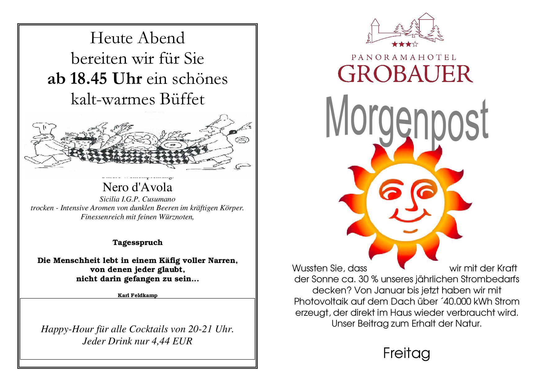 Morgenpost Hotel Und Berggasthof Grobauer Am Nationalpark